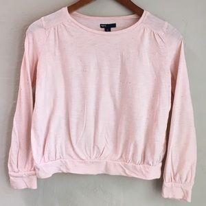 Girls GAP Pink Cotton Sparkle Top Sz L 10